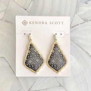Kendra Scott Addie earrings. Gunmetal and gold